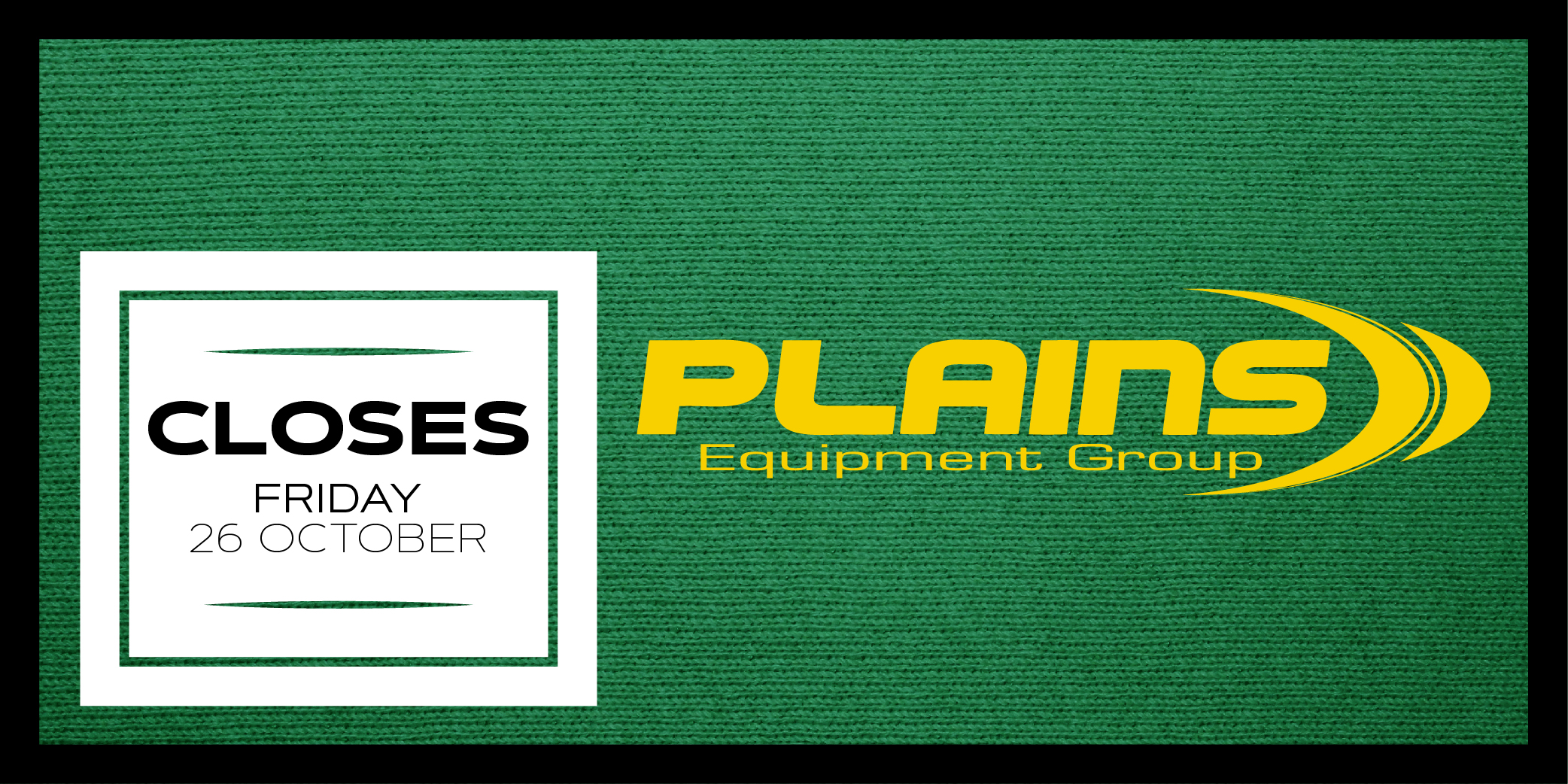 Plains Equipment Group — October